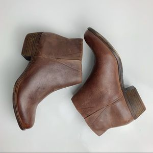 Lucky Brand Benissa Bootie Brown Size 9